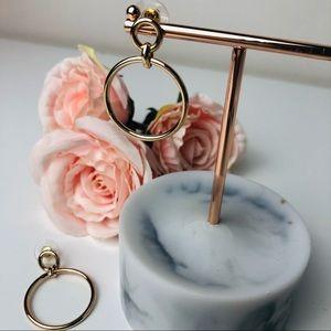 Cute Gold Plated Circle Hoop statement earrings